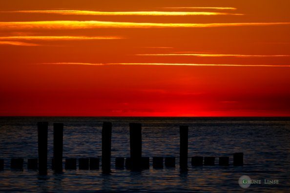 Sonnenuntergang Zingst - Seebrücke