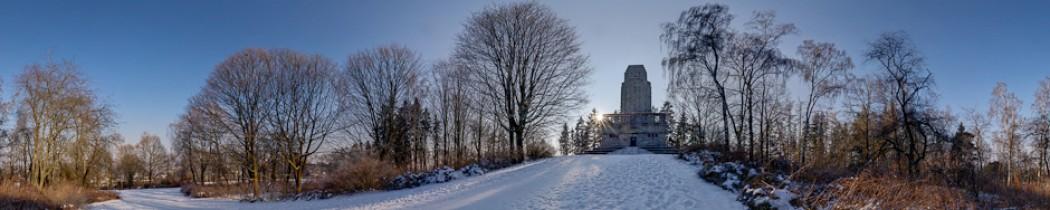 Kleiner Spaziergang am verschneiten Bismarckturm